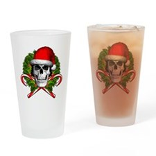 Christmas Skull Drinking Glass