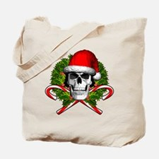 Christmas Skull Tote Bag