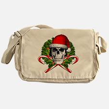 Christmas Skull Messenger Bag