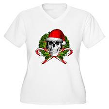 Christmas Skull Plus Size T-Shirt