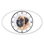 Mastiff Dog Paws Oval Sticker