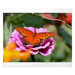 Butterfly Flower Garden King Duvet