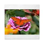 Butterfly Flower Garden Queen Duvet
