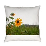 Sunflower In Field Everyday Pillow