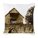 Old Kentucky Barn Woven Throw Pillow