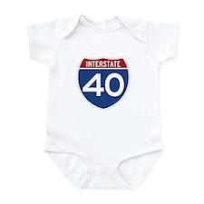 Interstate 40 Infant Bodysuit