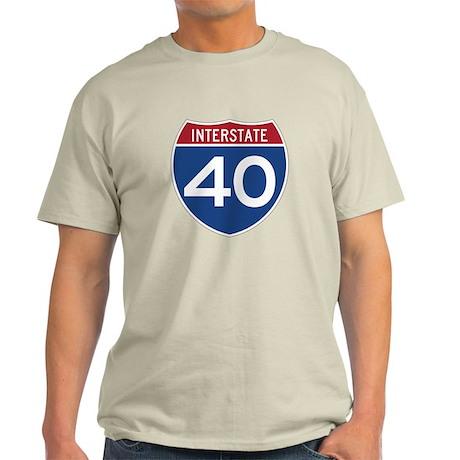 Interstate 40 Light T-Shirt
