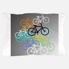 Colored Bikes Design Pillow Case