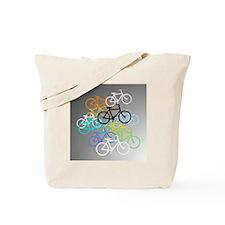 Colored Bikes Design Tote Bag