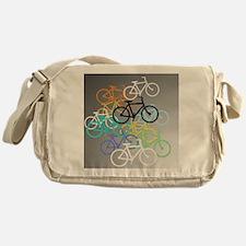 Colored Bikes Design Messenger Bag