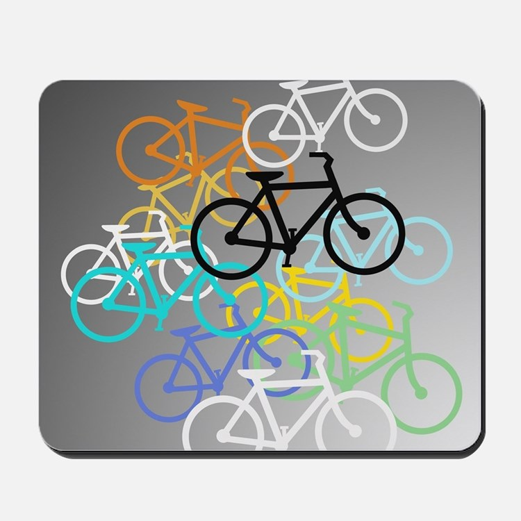 Colored Bikes Design Mousepad