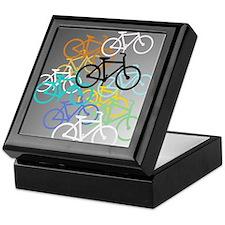 Colored Bikes Design Keepsake Box