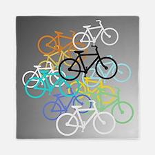 Colored Bikes Design Queen Duvet