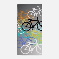 Colored Bikes Design Beach Towel