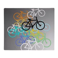 Colored Bikes Design Throw Blanket