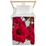 Pretty Red Roses Twin Duvet