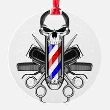 Barber Skull: Barber Tools Ornament