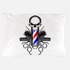 Barber Skull: Barber Tools Pillow Case