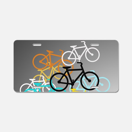 Colored Bikes Design Aluminum License Plate