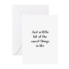 Just a little bit of the swee Greeting Cards (Pk o