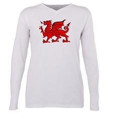 Cute Wales dragon Plus Size Long Sleeve Tee