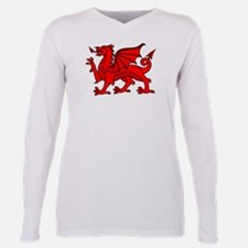 Cute Welsh dragon Plus Size Long Sleeve Tee