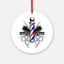 Barber Logo Round Ornament
