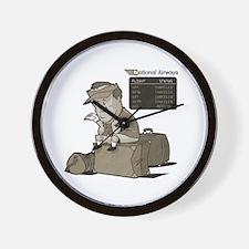 Cancelled Flight Humor Wall Clock