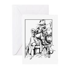 Angel With Cat Greeting Cards (Pk of 10)