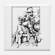 Angel With Cat Tile Coaster