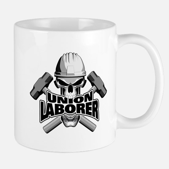 Union Laborer Skull Mugs
