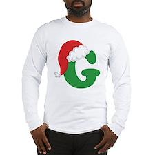 Christmas letter a alphabet womens Long Sleeve T-Shirt