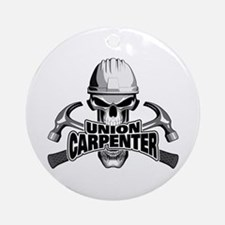 Union Carpenter Skull Round Ornament