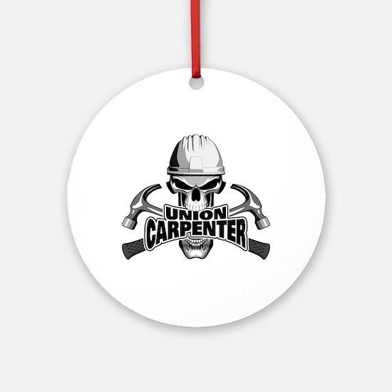 Union Carpenter Skull Round Ornament