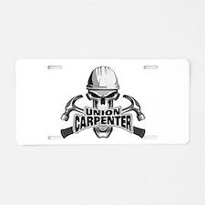 Union Carpenter Skull Aluminum License Plate