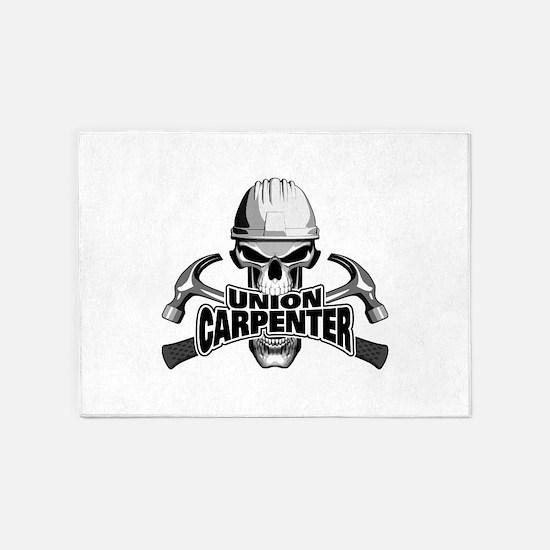 Union Carpenter Skull 5'x7'Area Rug