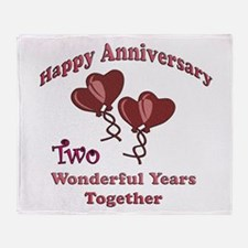 2nd. Anniversary Throw Blanket
