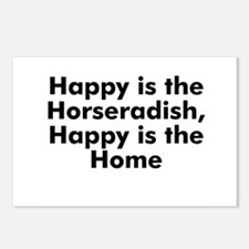 Happy is the Horseradish, Hap Postcards (Package o