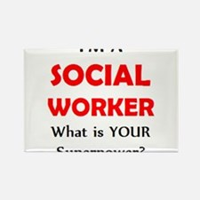Cute Social worker Rectangle Magnet (100 pack)