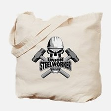 Union Steelworker Skull Tote Bag