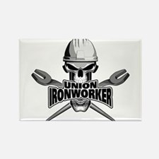 Union Ironworker Skull Magnets