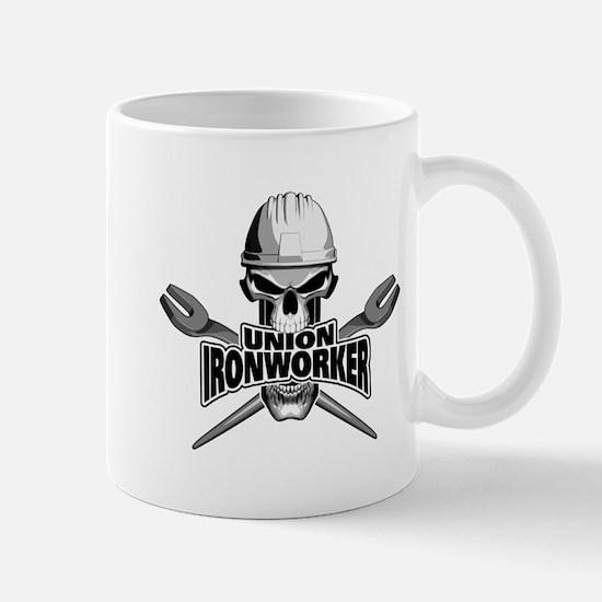 Union Ironworker Skull Mugs