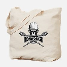 Union Ironworker Skull Tote Bag