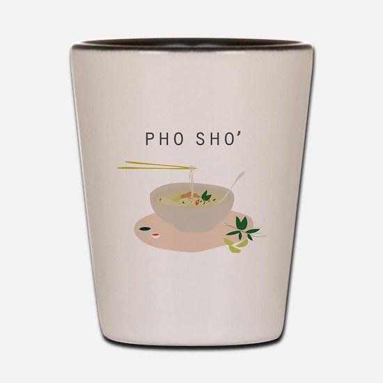 Cute Pho sho soup funny vietnamese Shot Glass