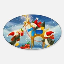 Penguin and Reindeer Christmas Decal