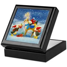 Penguin and Reindeer Christmas Keepsake Box