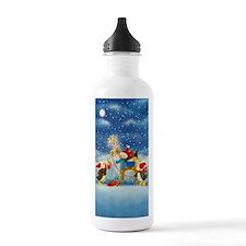Penguin and Reindeer Christmas Water Bottle