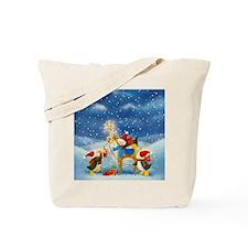 Penguin and Reindeer Christmas Tote Bag