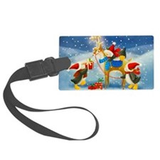 Penguin and Reindeer Christmas Luggage Tag