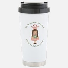 Cute Kiss a frog Travel Mug